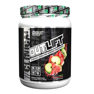 Nutrex Research Outlift 20 Servings Pre-Workouts Nutrex Research Apple Watermelon  (4294748504129)