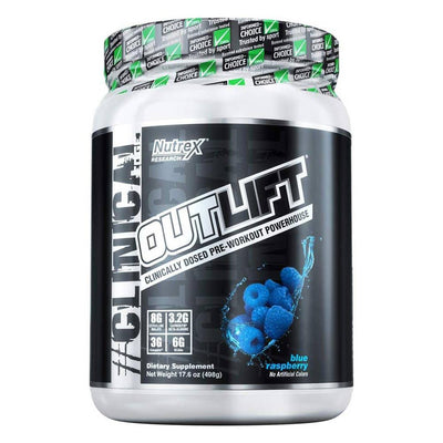 Nutrex Research Outlift 20 Servings Pre-Workouts Nutrex Research Blue Raspberry  (4294748504129)