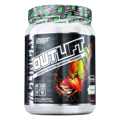 Nutrex Research Outlift 20 Servings Pre-Workouts Nutrex Research Fruit Punch  (4294748504129)