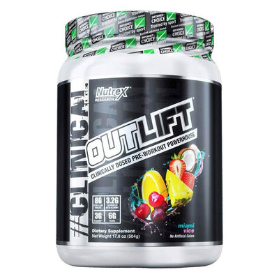 Nutrex Research Outlift 20 Servings Pre-Workouts Nutrex Research Miami Vice  (4294748504129)