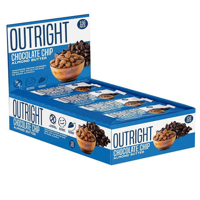MTS Nutrition Outright Bar 12 Pack Bars MTS Nutrition Chocolate Chip Almond Butter  (1825697103915)
