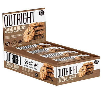 MTS Nutrition Outright Bar 12 Pack Bars MTS Nutrition Oatmeal Raisin Peanut Butter  (1825697103915)