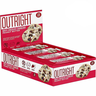 MTS Nutrition Outright Bar 12 Pack Bars MTS Nutrition White Chocolate Cranberry Peanut Butter  (1825697103915)
