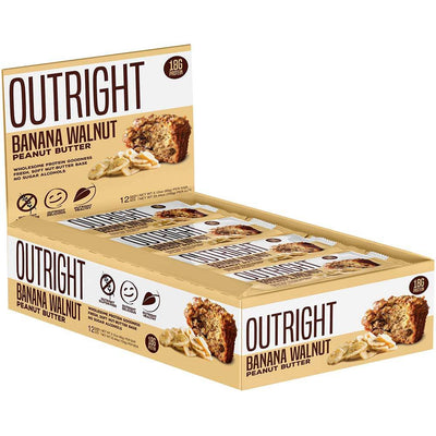 MTS Nutrition Outright Bar 12 Pack Bars MTS Nutrition Banana Walnut  (1825697103915)