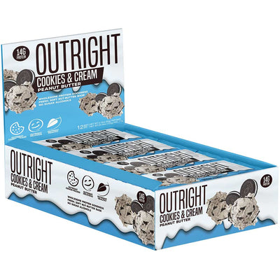 MTS Nutrition Outright Bar 12 Pack Bars MTS Nutrition Cookies and Cream Peanut Butter  (1825697103915)