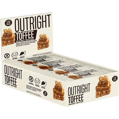 MTS Nutrition Outright Bar 12 Pack Bars MTS Nutrition Toffee Peanut Butter  (1825697103915)