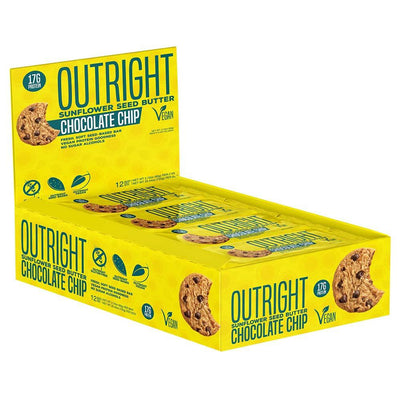 MTS Nutrition Outright Bar 12 Pack Bars MTS Nutrition Sunflower Chocolate Chip  (1825697103915)