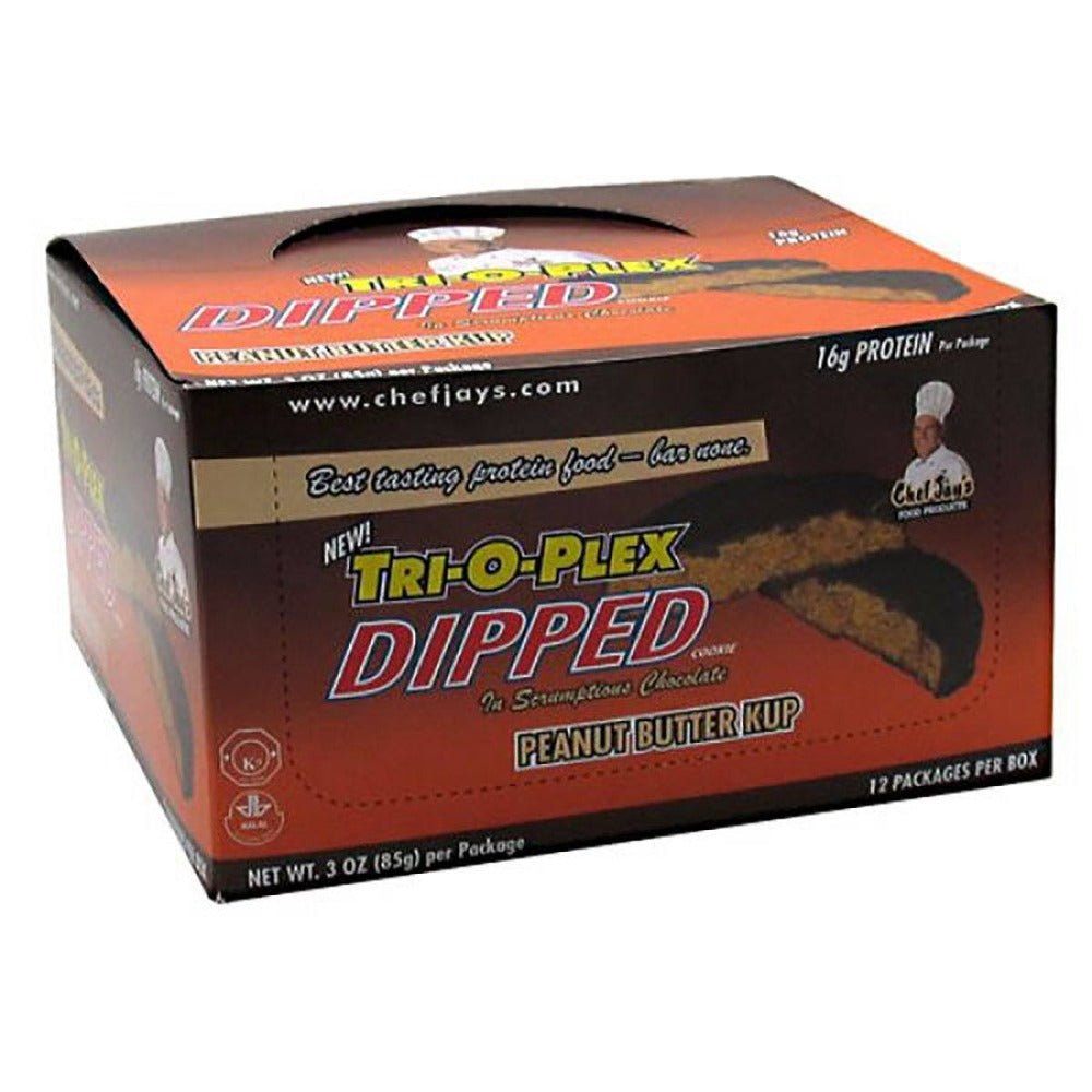 Chef Jay's Tri-O-Plex Dipped Cookies Peanut Butter Kup 3 oz. (85g) Protein Chef Jay's  (1058913452075)