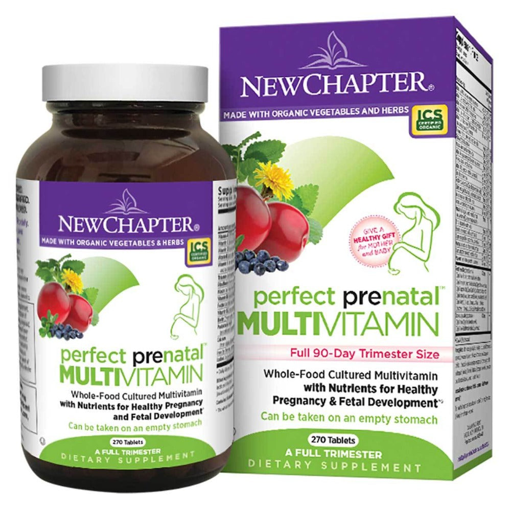 New Chapter Perfect Prenatal (a complete trimester) 270 Tabs Vitamins New Chapter  (1058596192299)