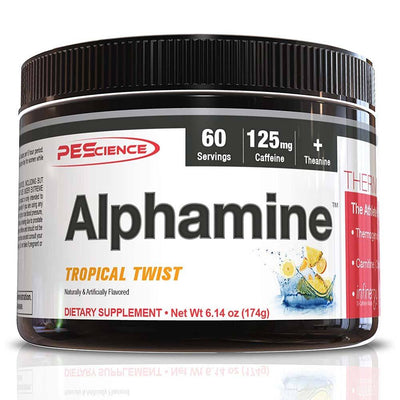 PEScience Alphamine 60 Servings Diet/Energy PEScience Tropical Twist