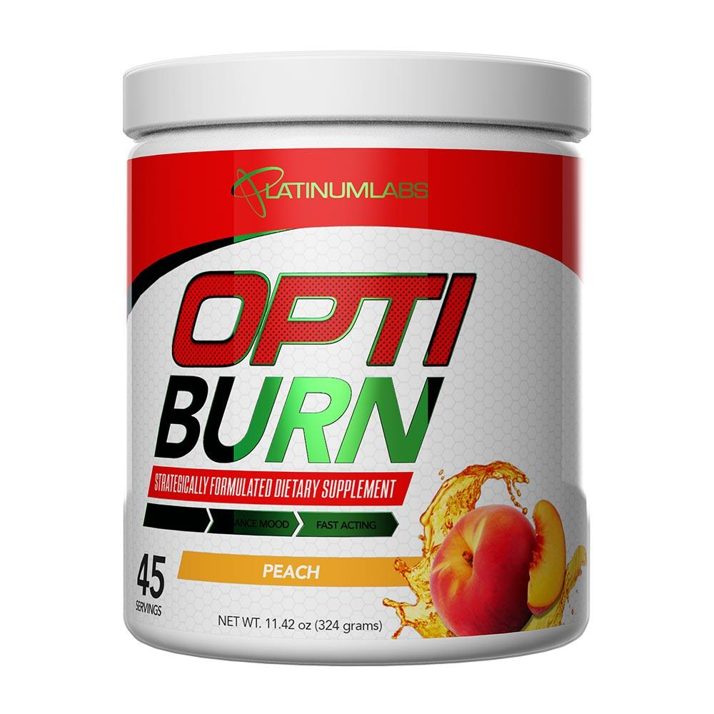 Platinum Labs Opti Burn 45 Servings Fat Burner Outbreak Peach  (4628264288321)