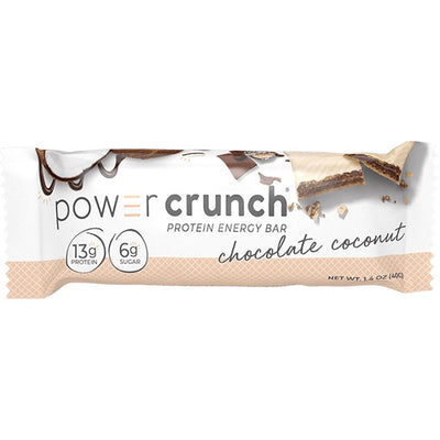 Bionutritional Research Group Power Crunch Wafers 12/Box Protein Bionutritional Research Group Chocolate Coconut