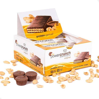 Bionutritional Research Group Power Crunch Wafers 12/Box Protein Bionutritional Research Group Peanut Butter Fudge  (1058066137131)