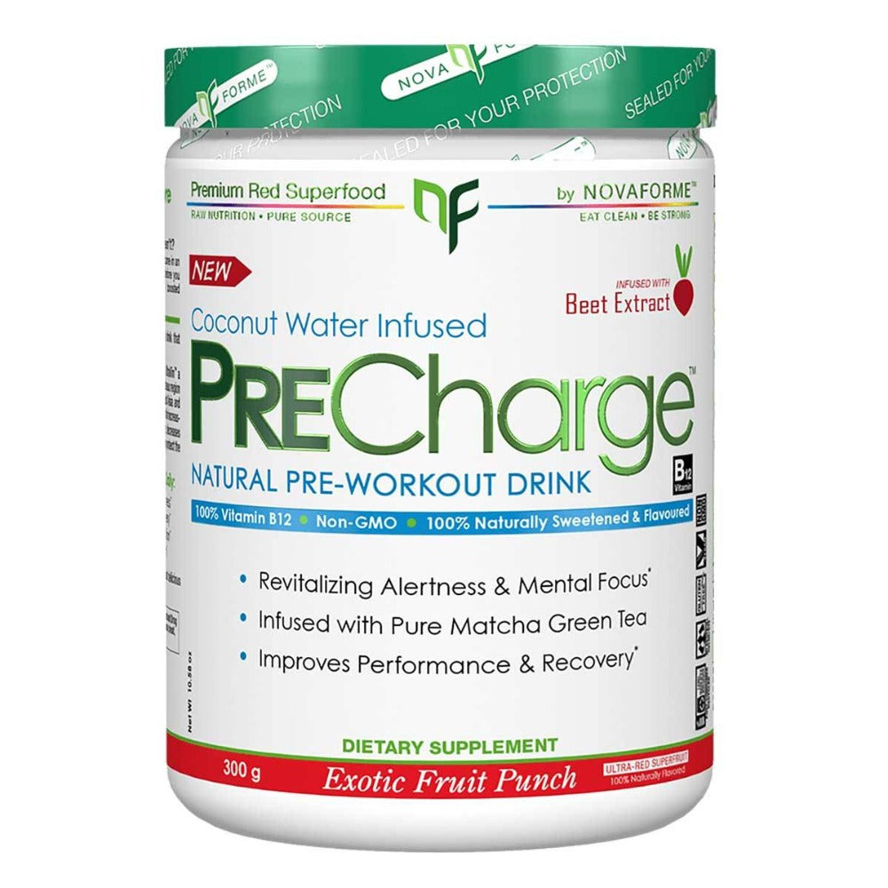 NovaForme PRECharge Exotic Fruit Punch 30 Servings Pre-workout NovaForme  (1059269181483)