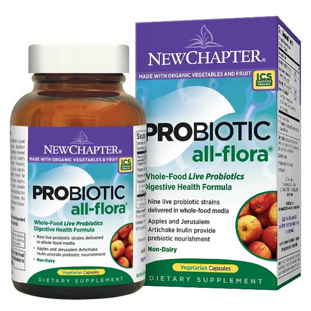 New Chapter Probiotic All-Flora 120 Vege Caps Digestive Health / Probiotics New Chapter  (1058609037355)