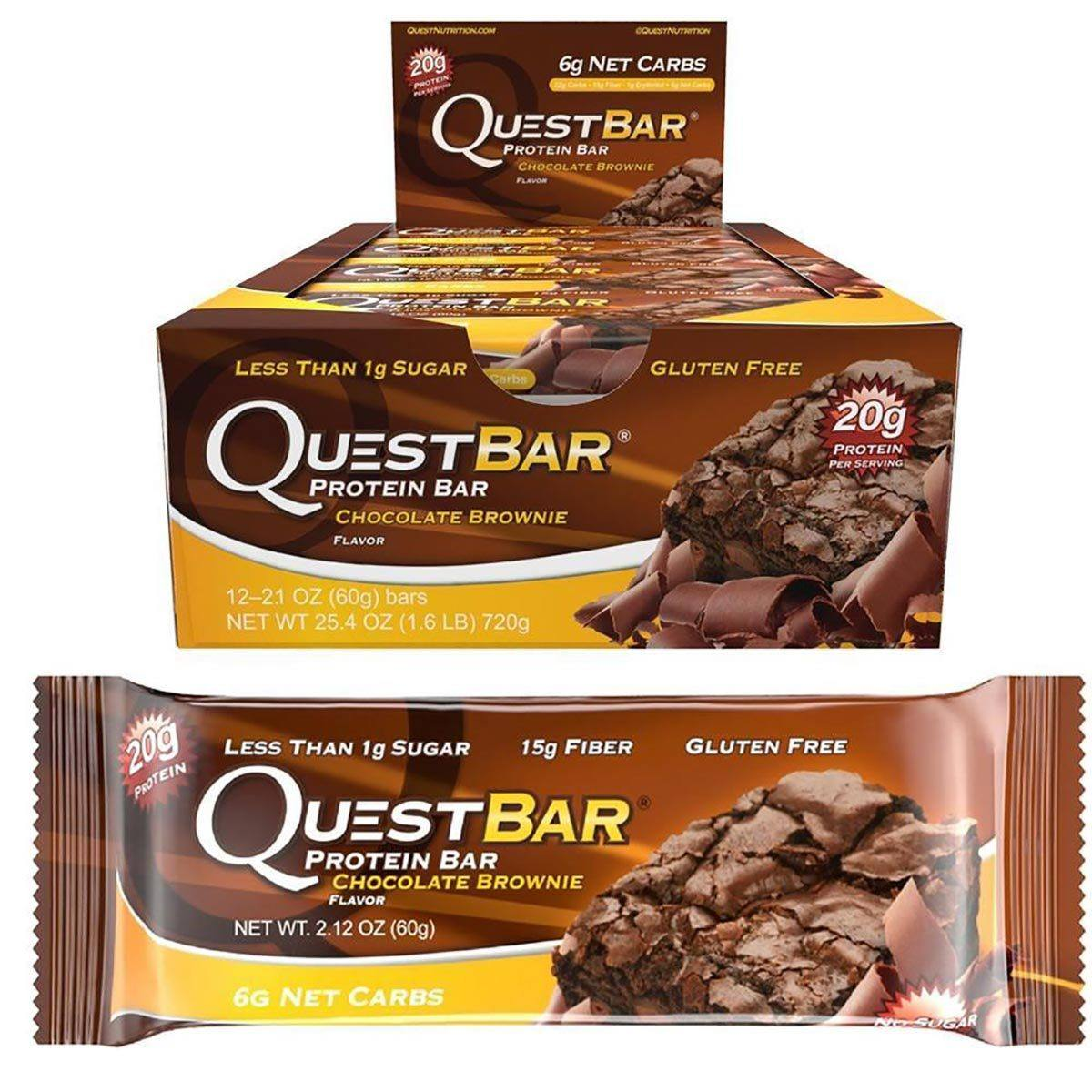 Quest Nutrition Quest Bar Natural 12/Box Top 50 Quest Nutrition  (1058724216875)