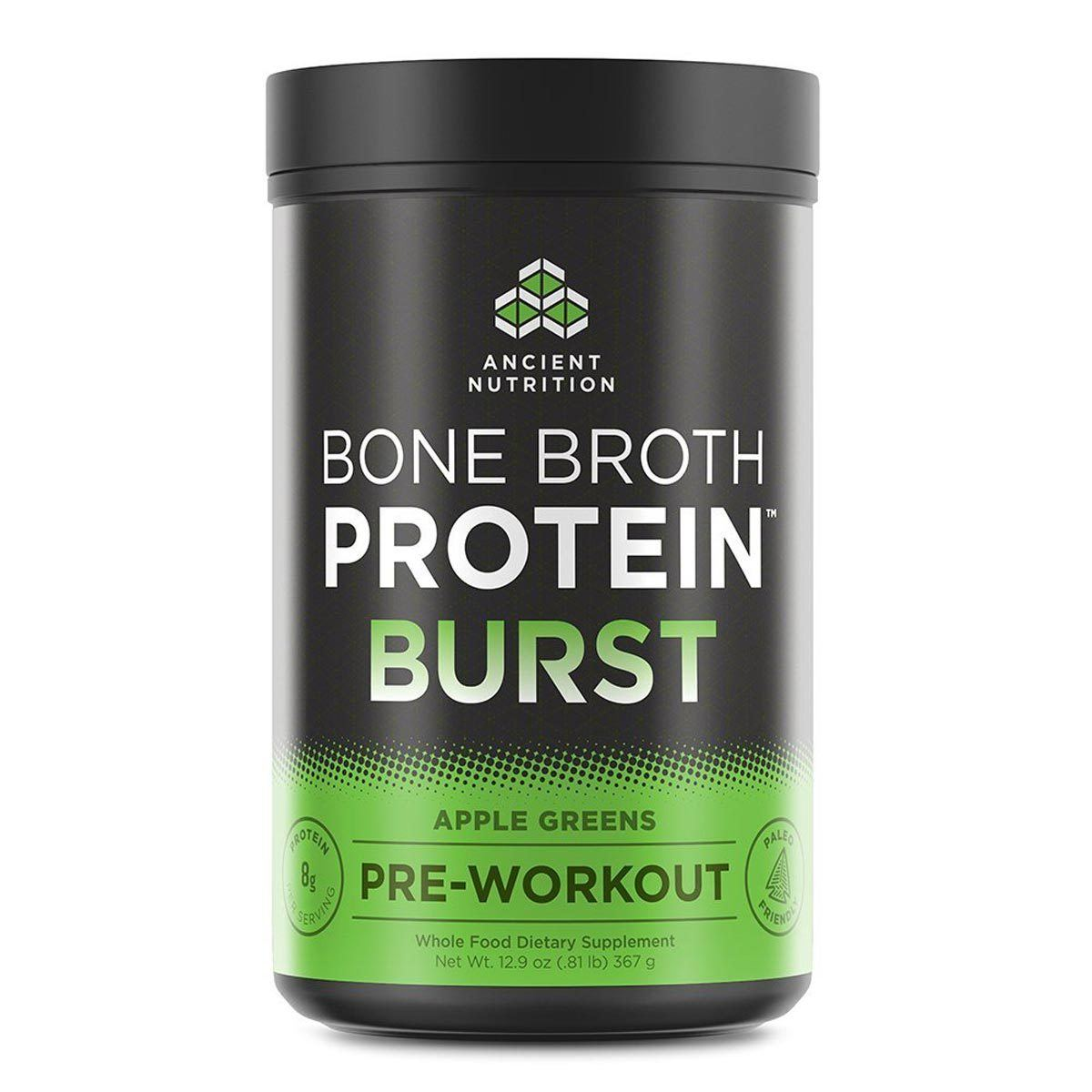 Ancient Nutrition Bone Broth Protein Burst Pre-Workout Protein Ancient Nutrition Apple  (1059283402795)