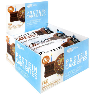 Optimum Nutrition Protein Cake Bites 12/Box Foods & Snacks Optimum Nutrition Chocolate Birthday Cake  (1059269804075)