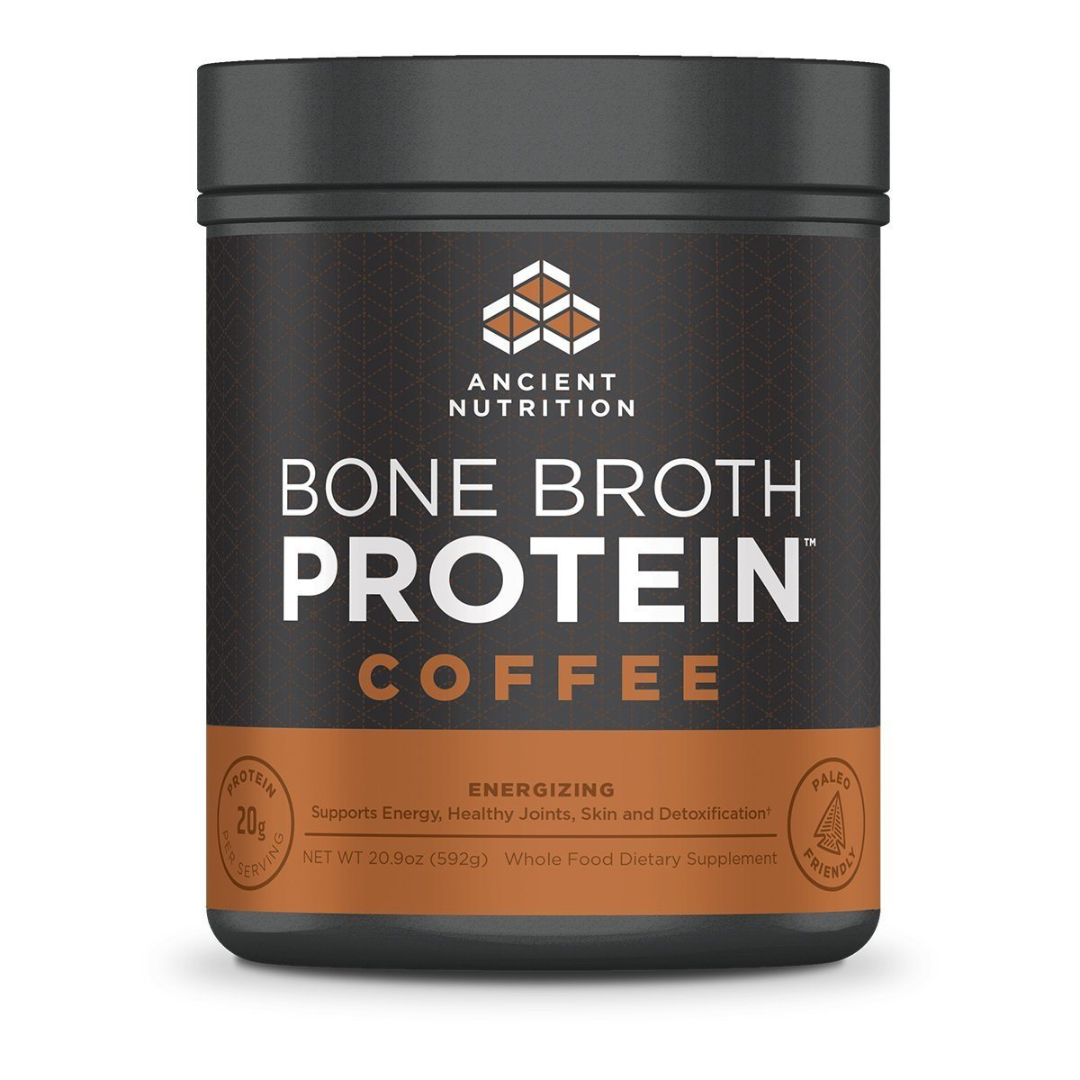 Ancient Nutrition Bone Broth Protein Coffee 20 Servings Protein Ancient Nutrition  (1059256500267)