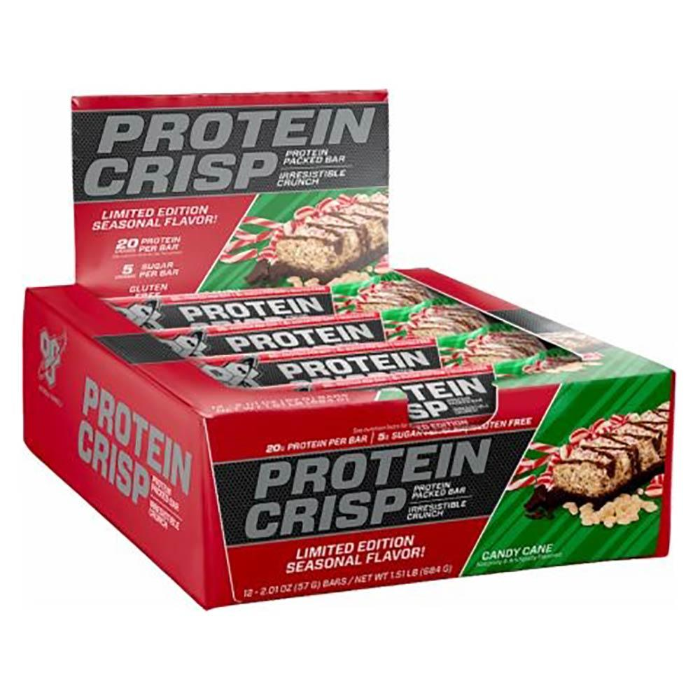 BSN Syntha-6 Protein Crisp 12/Box Bars BSN Candy Cane  (1556856930347)
