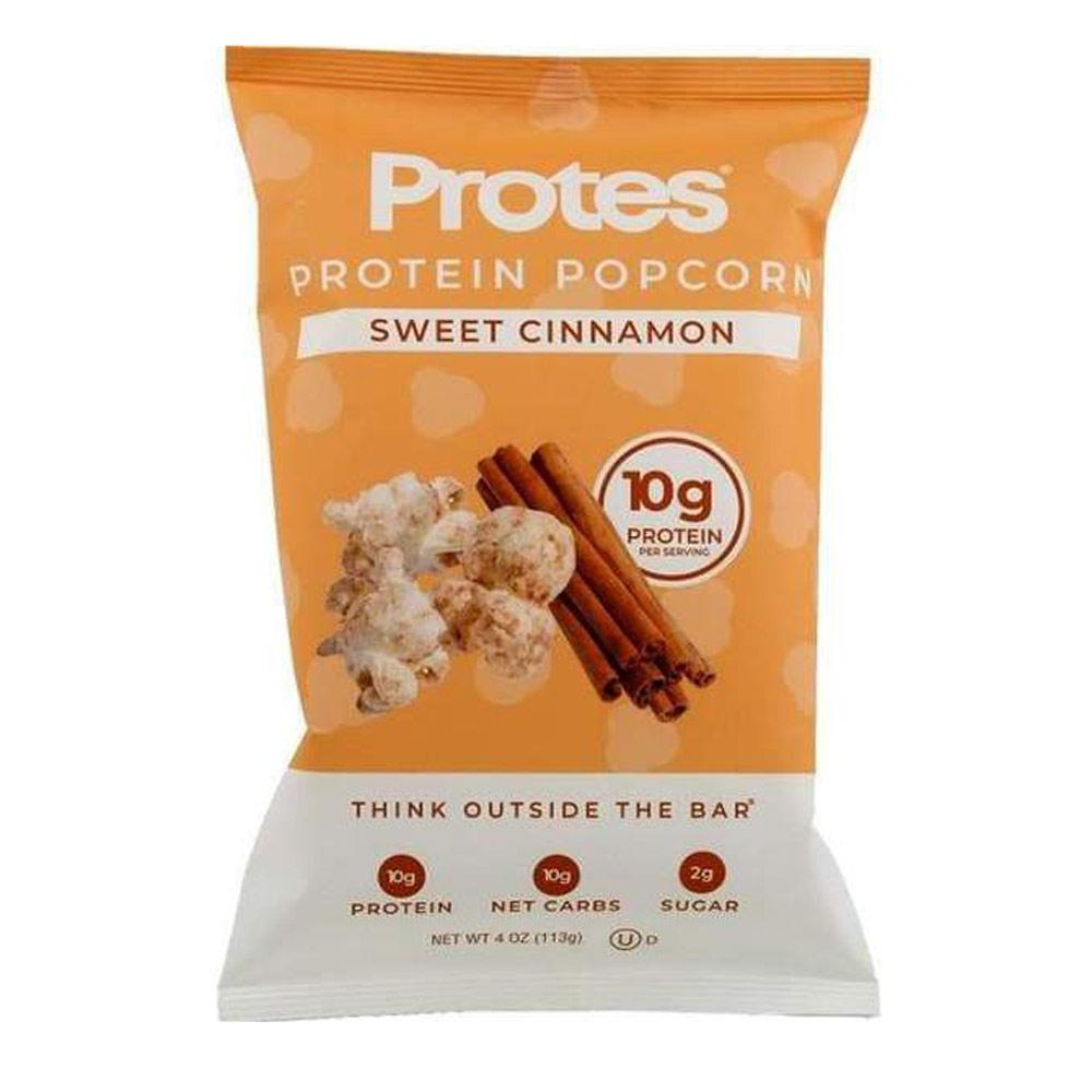 Protes Protein Popcorn 24/Box 1.4oz Bags Foods Juices PROTES Sweet Cinnamon  (1806080475179)