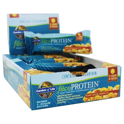 Garden of Life fucoPROTEIN Bar Box of 12 Protein Garden of Life Peanut Butter Crunch  (1058115649579)