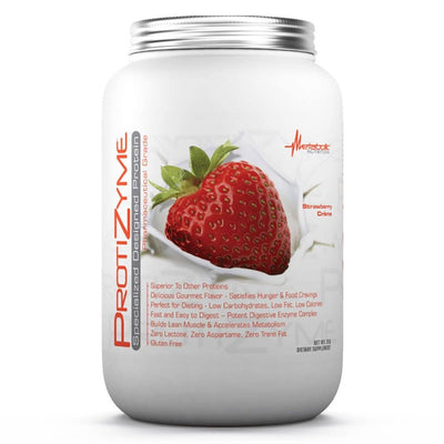 Metabolic Nutrition Protizyme 2 Lbs Protein Metabolic Nutrition Strawberry Creme  (1058814296107)