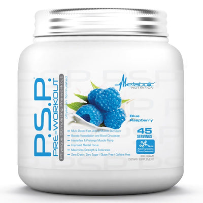 Metabolic Nutrition P.S.P. 360 Grams Pre-workout Metabolic Nutrition Blue Raspberry  (1059202269227)