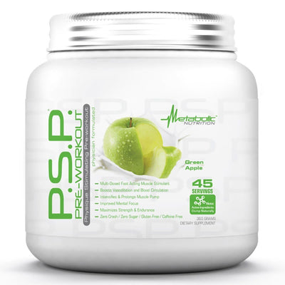 Metabolic Nutrition P.S.P. 360 Grams Pre-workout Metabolic Nutrition Green Apple  (1059202269227)