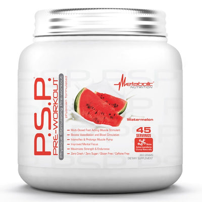 Metabolic Nutrition P.S.P. 360 Grams Pre-workout Metabolic Nutrition Watermelon  (1059202269227)