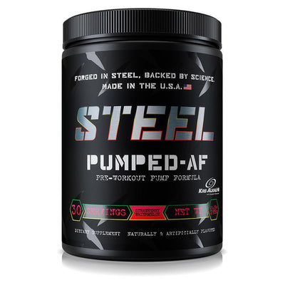 Steel Pumped-AF 30 Servings Sports Performance Recovery STEEL Strawberry Watermelon  (1838612414507)