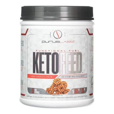 Purus Labs KetoFeed 15 Servings Protein Powders Purus Labs Samoa Chocolate Cream  (1761263026219)