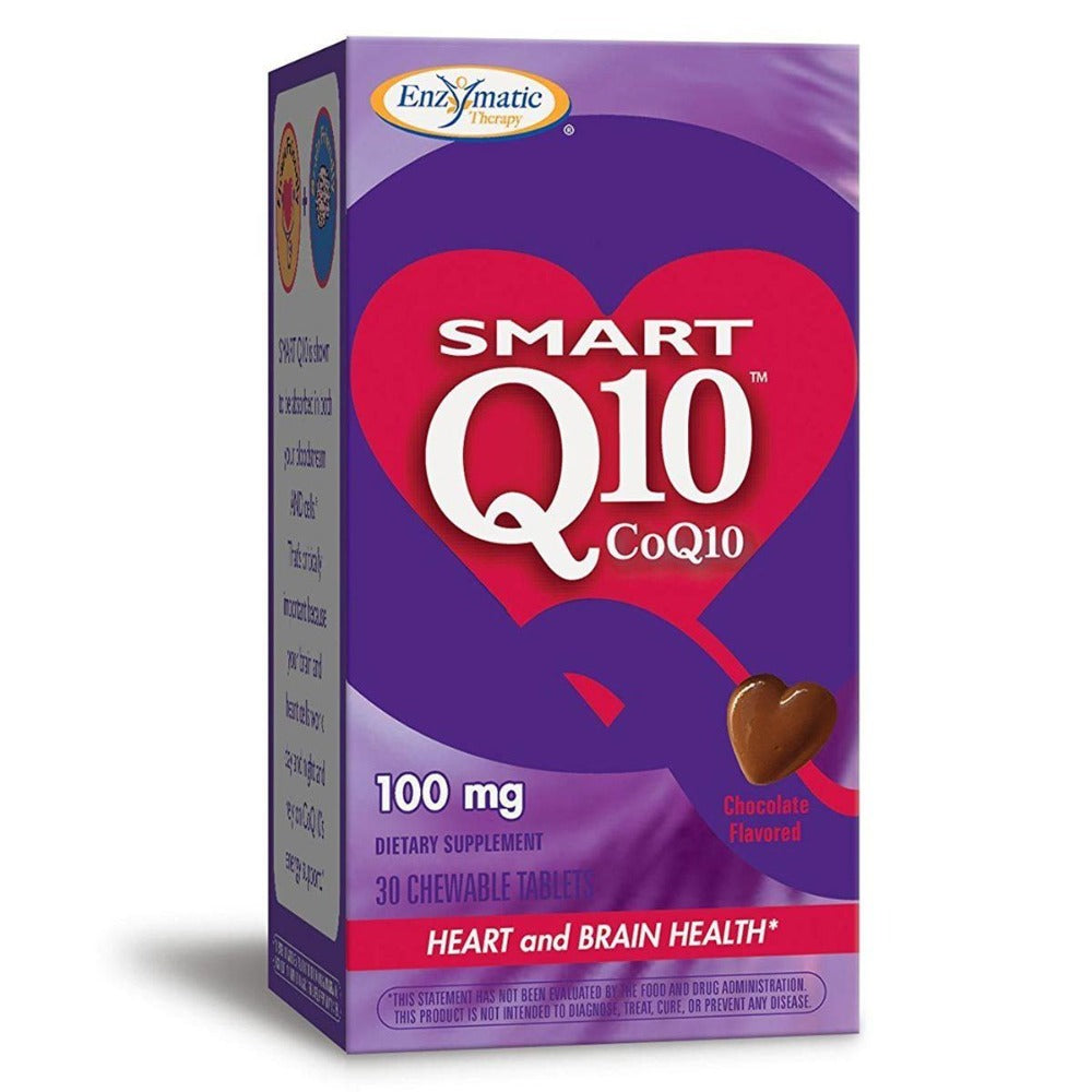 Enzymatic Therapy CoQ10 Vitaline Chewable 100mg Chocolate 30 Tabs Antioxidants / CoQ-10 Enzymatic Therapy  (1057946665003)