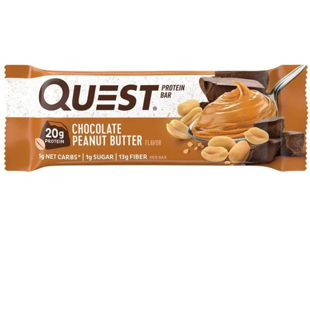 QUEST BAR CHOCOLATE PEANUT BUTTER INDIVIDUAL Bars Quest Nutrition  (4327052181569)