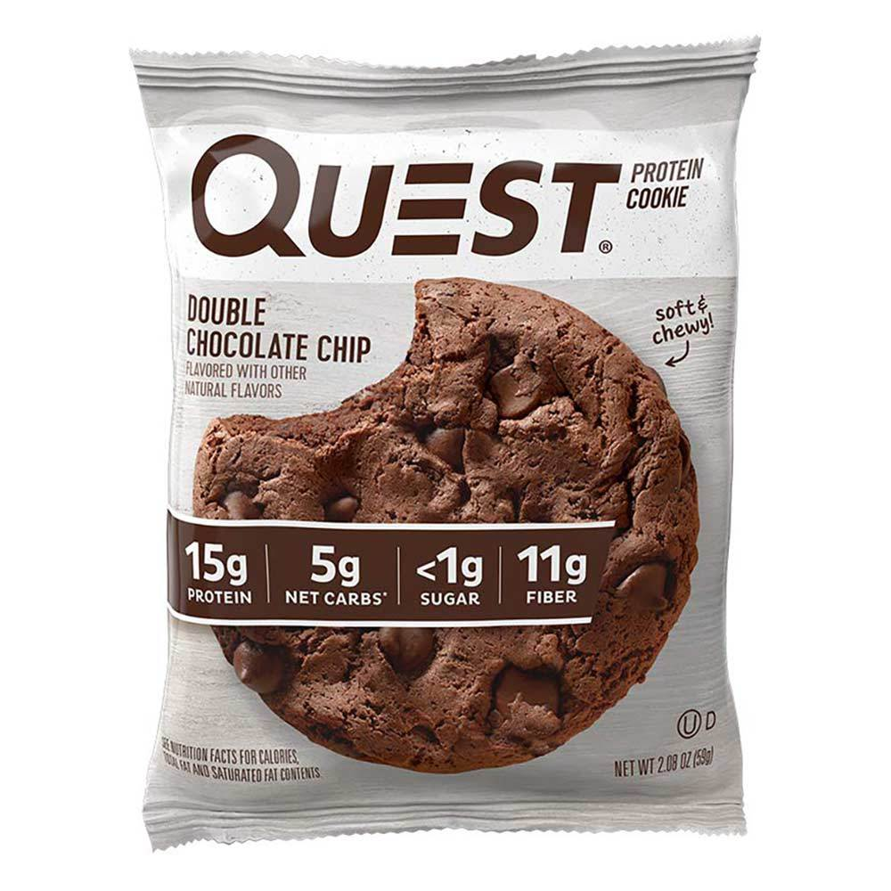 QUEST NUTRITION QUEST COOKIE DOUBLE CHOCOLATE CHIP INDIVIDUAL Bars Quest Nutrition  (4327053525057)