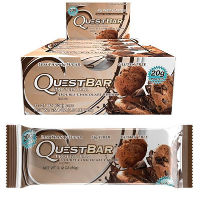 Quest Nutrition Quest Bar Protein Bar 12/Box Top 50 Quest Nutrition Double Chocolate Chunk  (1058690433067)