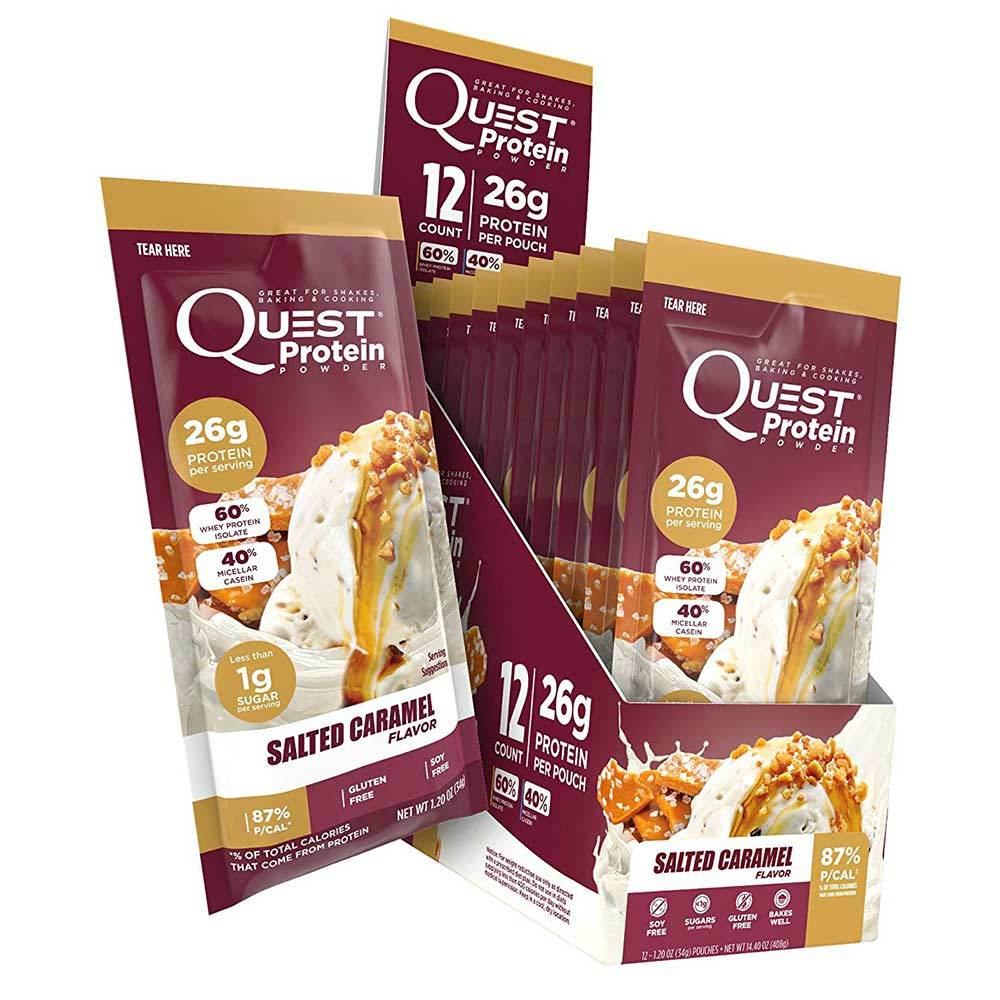 Quest Protein Powder Salted Caramel 12/Box Protein Powders Quest Nutrition  (1589089566763)