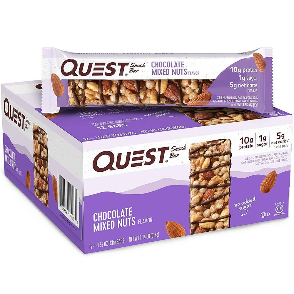 Quest Snack Bar 12/Box Bars Quest Nutrition Chocolate Mixed Nuts  (4544359137345)