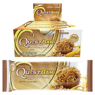 Quest Nutrition Quest Bar Protein Bar 12/Box Top 50 Quest Nutrition Banana Nut Muffin  (1058690433067)