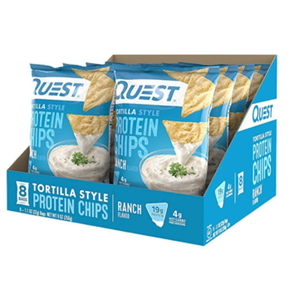 Quest Protein Tortilla Chips 8/Box Foods Juices Quest Nutrition Ranch  (1403430928427)