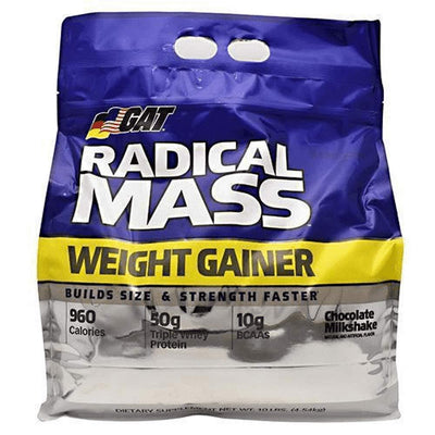GAT RADICAL MASS 10LB Protein Powders GAT CHOCOLATE MILKSHAKE  (1835461509163)