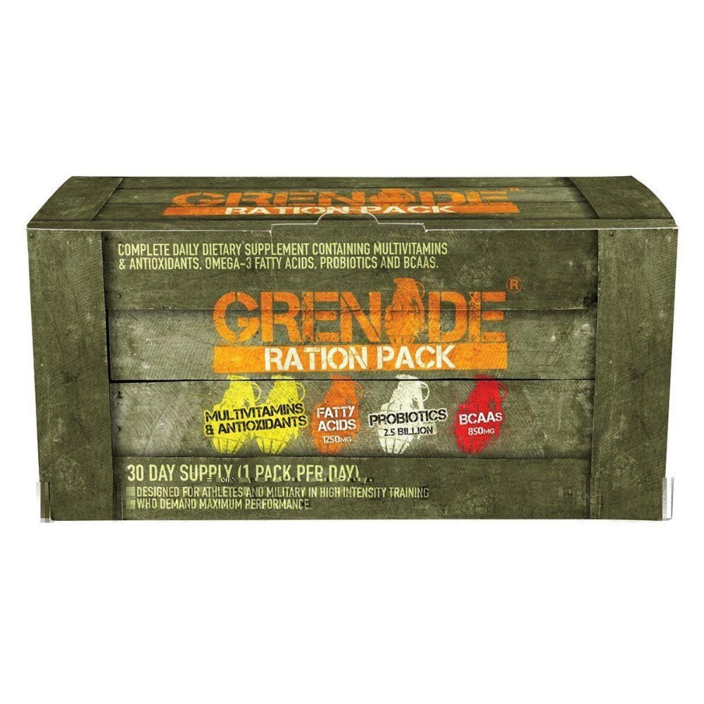 Grenade Ration Pack 30 Packs Vitamins Grenade  (1059171336235)