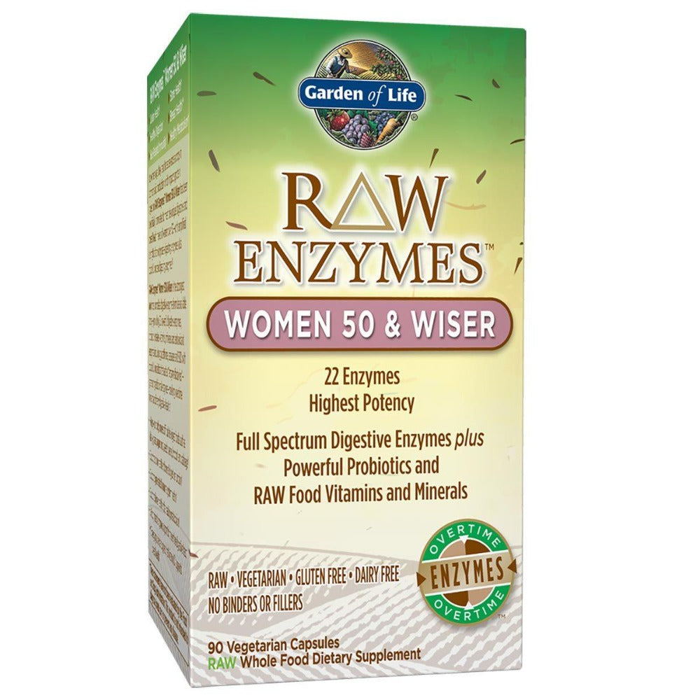 Garden of Life Raw Enzymes Women 50 and Wiser 90 Vege Caps Digestive Health / Probiotics Garden of Life  (1058599239723)