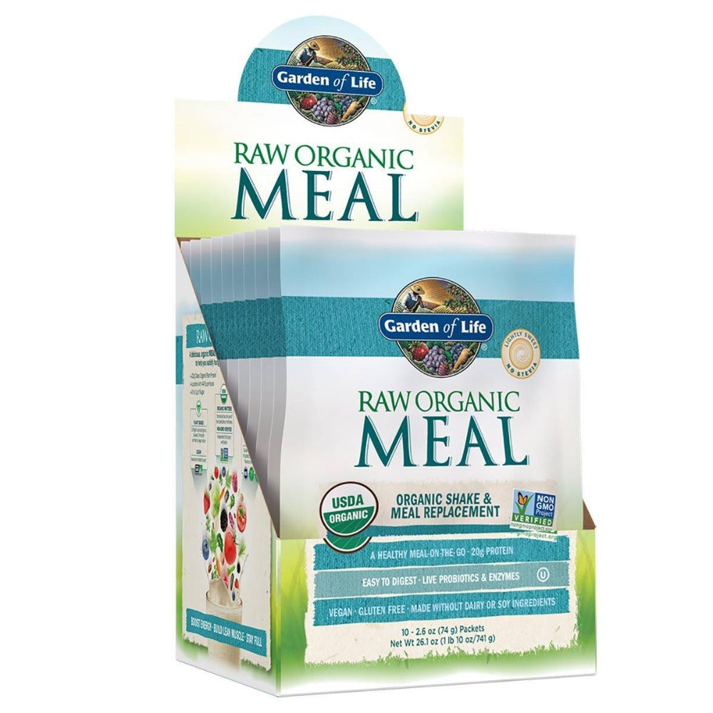 Garden of Life Raw Organic Meal Packets 10/Box Greens / Super Foods Garden of Life  (1058757214251)