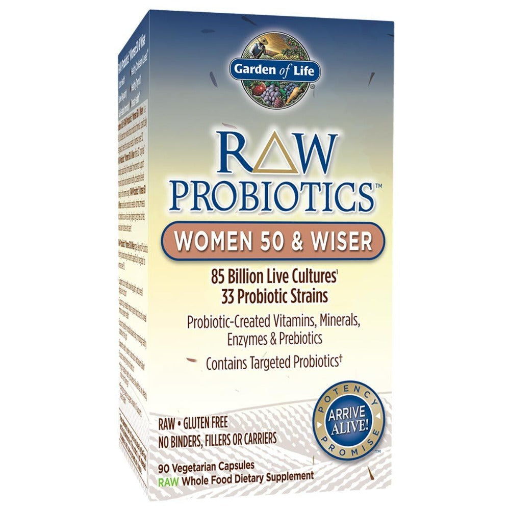 Garden of Life Raw Probiotics Women 50 and Wiser 90 Vege Caps Digestive Health / Probiotics Garden of Life  (1058601893931)