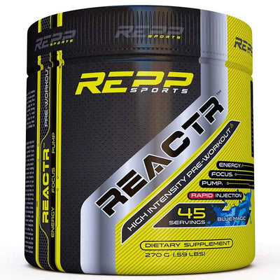 REPP Reactr 45 Servings | Pre-Workout Sports Performance Recovery REPP SPORTS Blue Magic  (1746402148395)