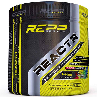 REPP Reactr 45 Servings | Pre-Workout Sports Performance Recovery REPP SPORTS Rainbow Burst  (1746402148395)