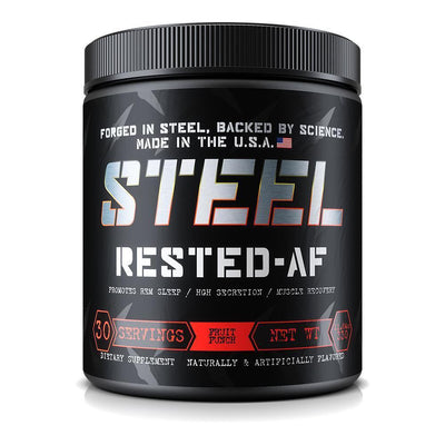 Steel Rested AF 30 Servings Specialty Health Products STEEL Fruit Punch  (1838614216747)