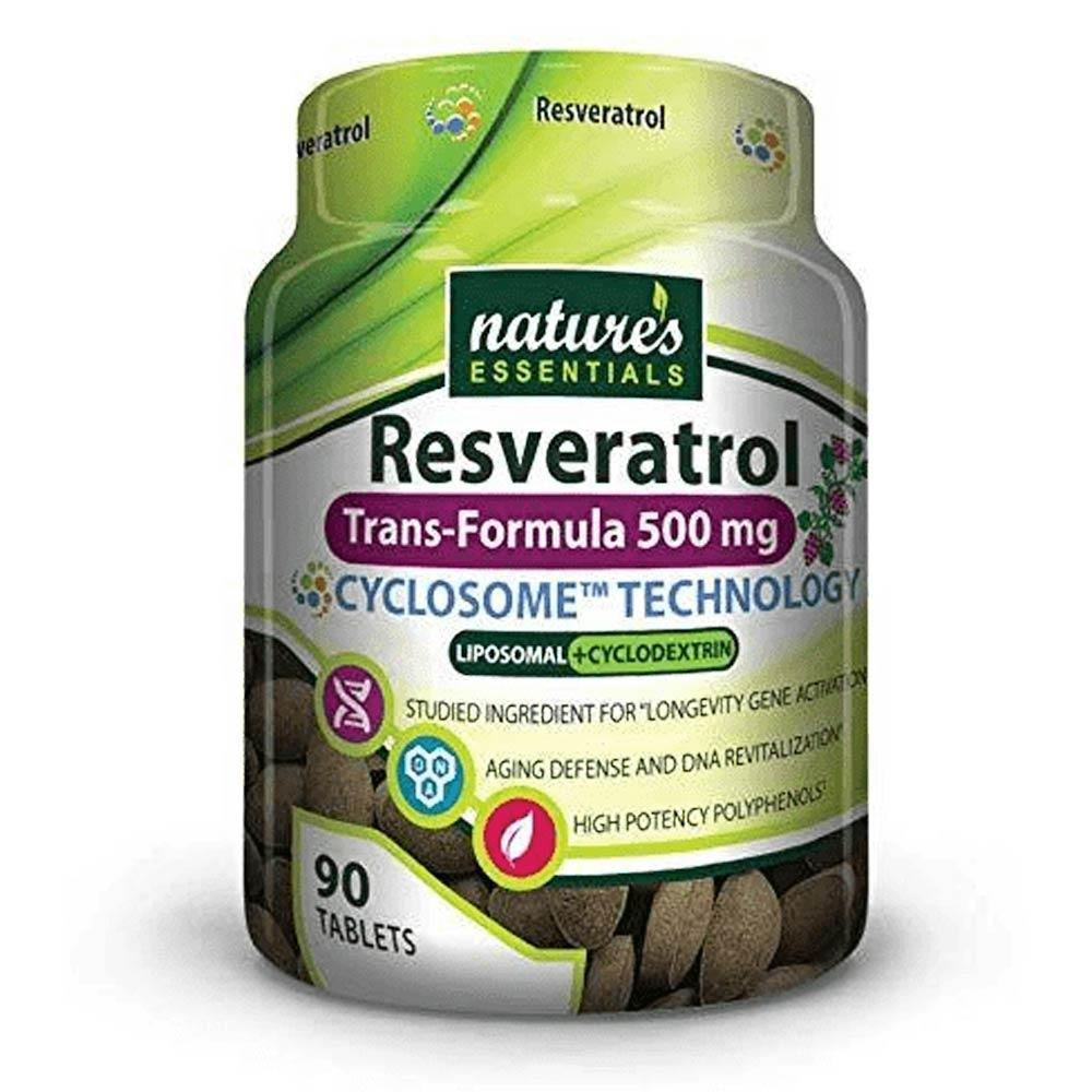Nature's Essentials Resveratrol 500mg 90 Tablets Specialty Health Products Nature's Essentials  (4399294808129)
