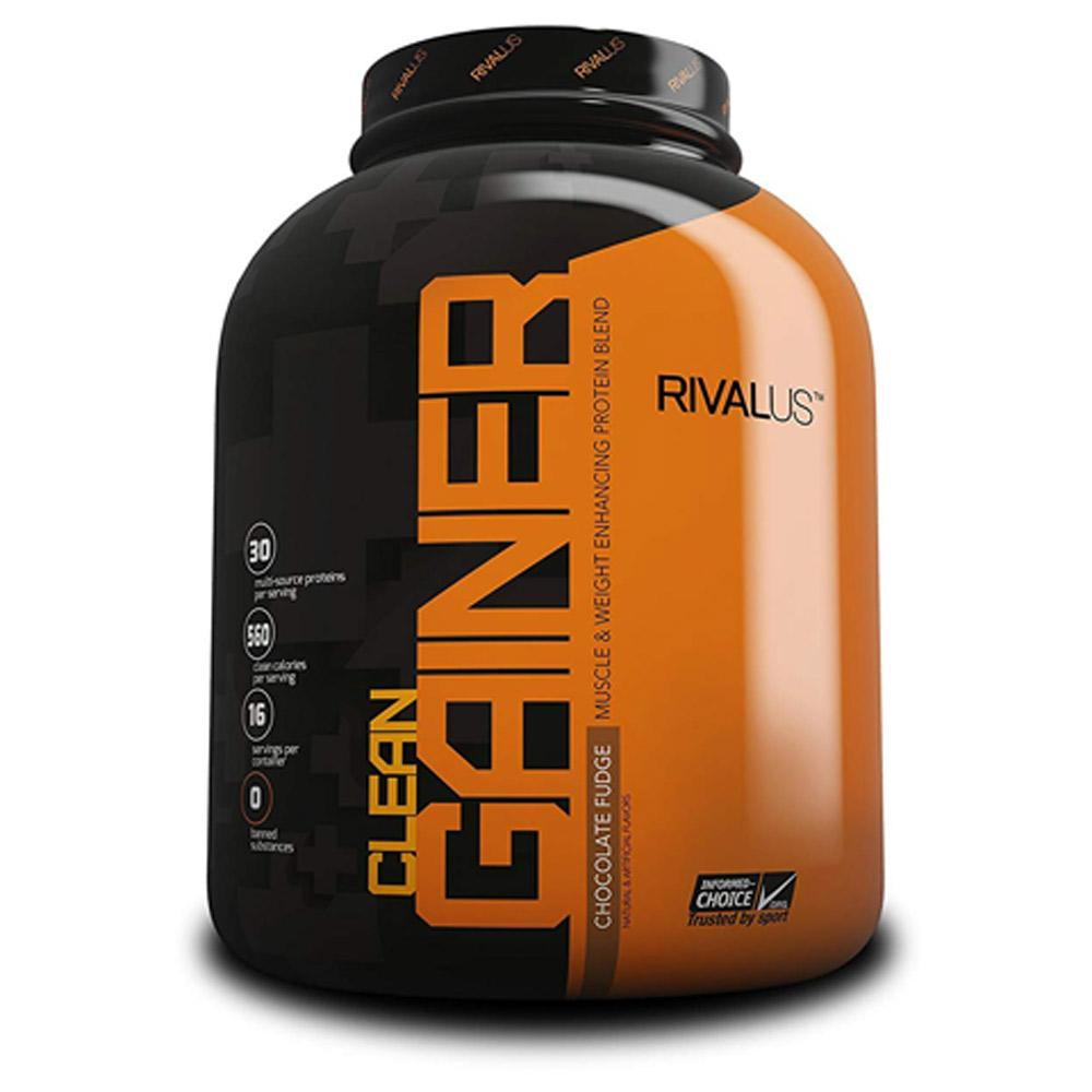 Rivalus Clean Gainer 5lb Protein Powders Rivalus Chocolate Fudge  (1722638794795)